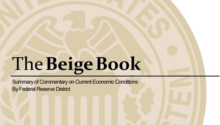 "Beige Book Shows ""Slight to Modest"" Economic Growth"