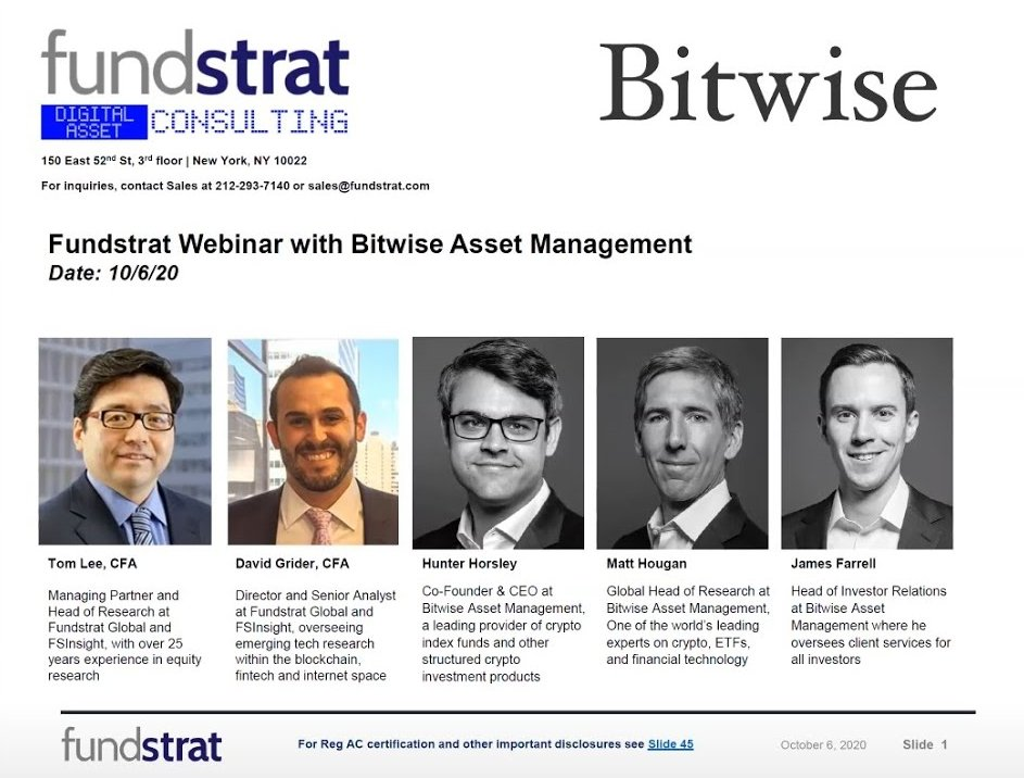 Webinar: Bitwise - Crypto Index Funds and Alpha Opportunity 10.06.2020
