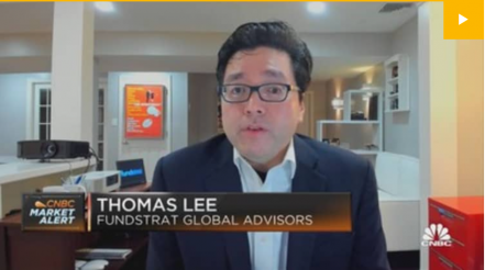 """Fundstrat's Tom Lee: """"I think we're going to finish the year strong"""""""