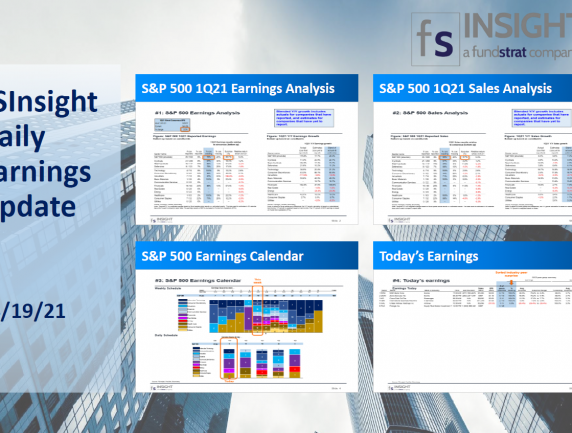 FSInsight 1Q21 Daily Earnings Update – 04/19/2021