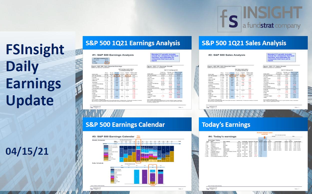 FSInsight 1Q21 Daily Earnings Update – 04/15/2021