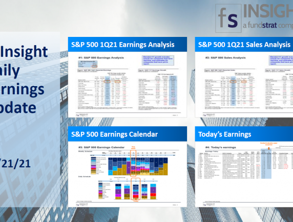 FSInsight 1Q21 Daily Earnings Update – 04/21/2021
