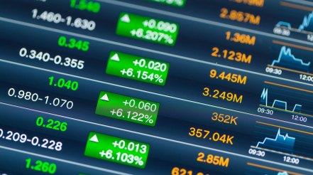 Digital Stock Market Chart On A Tablet Screen
