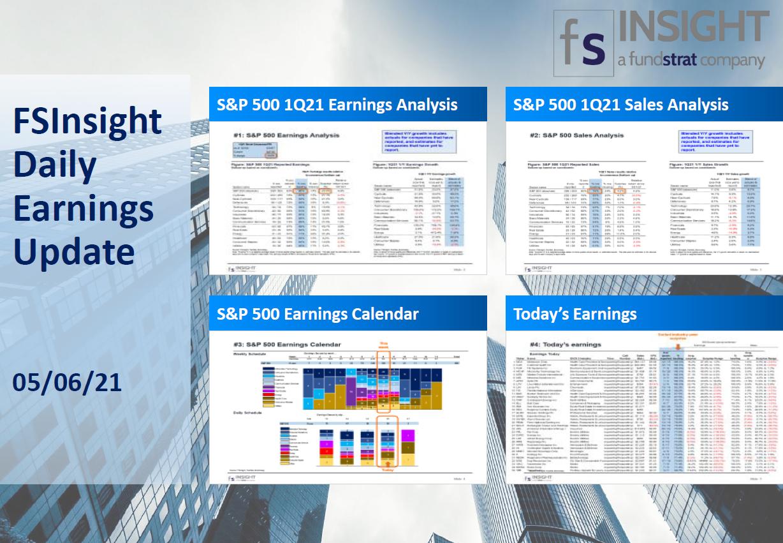 FSInsight 1Q21 Daily Earnings Update – 05/06/2021