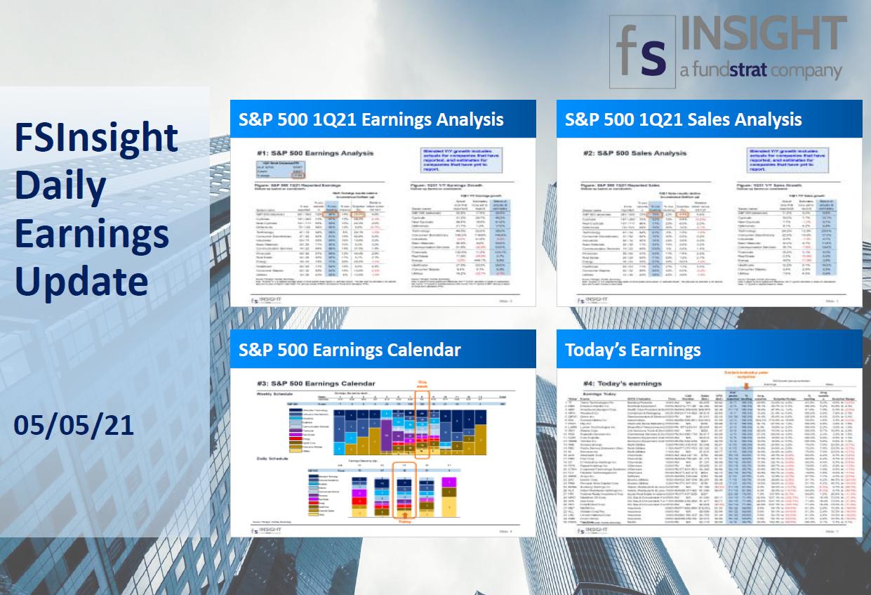 FSInsight 1Q21 Daily Earnings Update – 05/05/2021