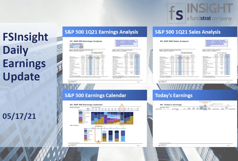 FSInsight 1Q21 Daily Earnings Update – 05/17/2021