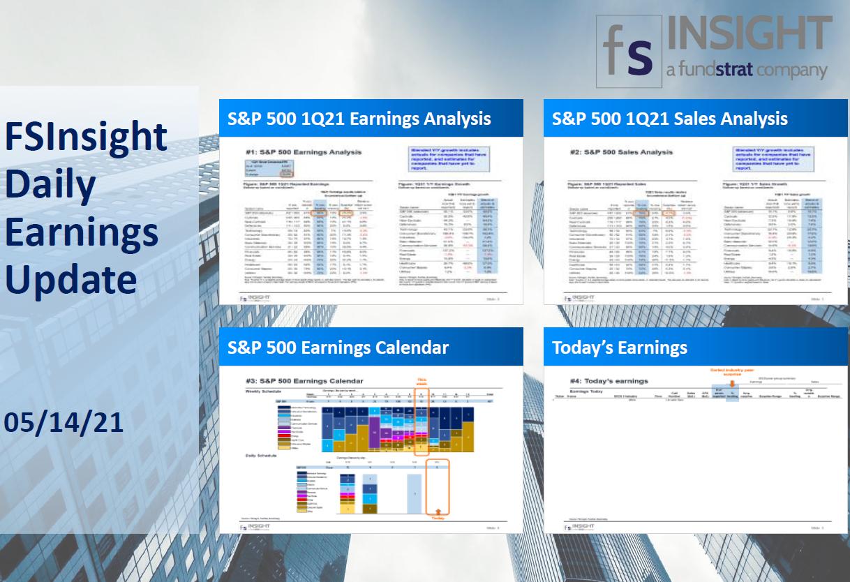 FSInsight 1Q21 Daily Earnings Update – 05/14/2021