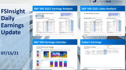 FSInsight 2Q21 Daily Earnings Update – 07/15/2021
