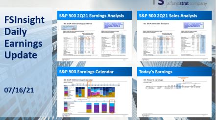 FSInsight 2Q21 Daily Earnings Update – 07/16/2021