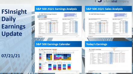 FSInsight 2Q21 Daily Earnings Update – 07/21/2021