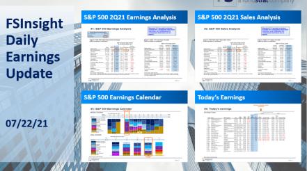 FSInsight 2Q21 Daily Earnings Update – 07/22/2021