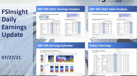 FSInsight 2Q21 Daily Earnings Update – 07/27/2021