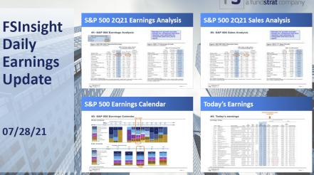 FSInsight 2Q21 Daily Earnings Update – 07/28/2021