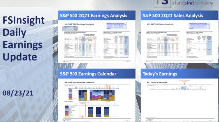FSInsight 2Q21 Daily Earnings Update – 08/23/2021