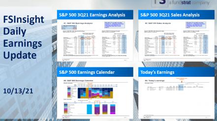 FSInsight 3Q21 Daily Earnings Update - 10/13/2021