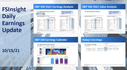 FSInsight 3Q21 Daily Earnings Update - 10/15/2021