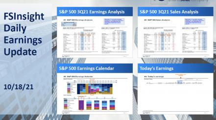 FSInsight 3Q21 Daily Earnings Update - 10/18/2021
