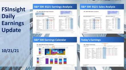 FSInsight 3Q21 Daily Earnings Update - 10/21/2021
