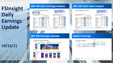 FSInsight 3Q21 Daily Earnings Update – 10/22/2021