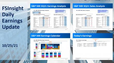 FSInsight 3Q21 Daily Earnings Update – 10/25/2021